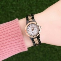 murah jam tangan seiko wanita / jtr 1114 hitam kombinasi