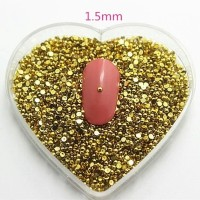 Gold Color Round Shape Resin for Nail Art or Craft
