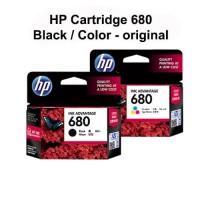 Paket Tinta HP 680 Black dan Color Printer HP Deskjet 2135 3635