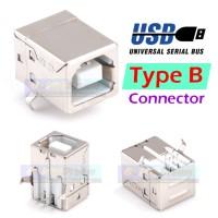 USB Tipe B Female Soket Printer 4 Pin Betina Shielded Type Connector
