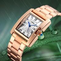 jam tangan wanita perempuan original model 1284 Rose Gold SKMEI