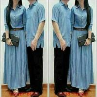 cp kizzy / couple maxi dress / kemeja denim pria / pakaian wanita