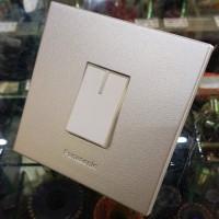 Panasonic Saklar Engkel Tunggal Frame Silver 78019 + Switch Putih 5931