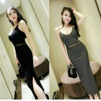 Longdress Scuba Hitam