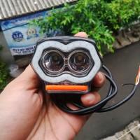 Lampu Tembak OWL 2 Mata 20Watt USB Charger