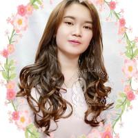 Half head hair extensions U clip in Long Wavy Curly Gelombang Panjang