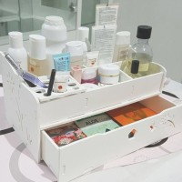 Rak Kosmetik putih - Cosmetic Storage Accessories Organizer box R31