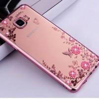 Samsung Galaxy A9 - C9 Pro case casing hp cover ultra thin TPU FLOWER