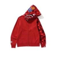 BAPE Zip Hoodie WGM Shark Red Camo Original
