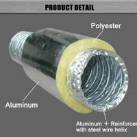 Alumunium Flexible ducting isolasi / insulated 5 inch