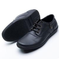 Sepatu Casual Pria Handmade Model Tali Kerja dan Santai Sol Karet 202 - Hitam, 39