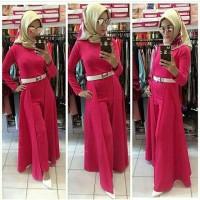 Jumpsuit for Hijab Scuba Pink