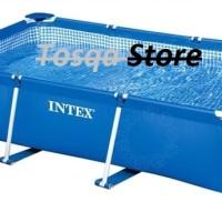 Kolam Renang Keluarga Rectangular Frame Pool 2.6m INTEX #28271 / Kolam