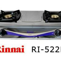 Rinnai stainless 2 tungku model 522 E