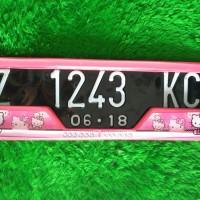 Variasi Dudukan Plat Nomor Mobil HELLO KITTY - HIGH QUALITY