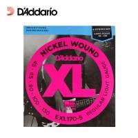 Senar Gitar Bass Elektrik D'Addario EXL170-5 Nickel (5 Senar) Daddario