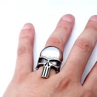 punisher skull ring / cincin tengkorak import stainless steel 316L