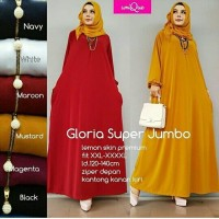 Gamis Polos Jumbo Busui Jersey Lemon Dress Muslim Big Size XXXXL Murah