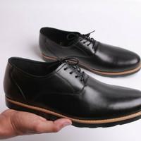 sepatu kulit pria boston oxford (bally/pedro/brodo/pantofel/boot/kerja