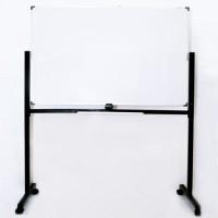 Whiteboard SAKANA 90 x 120 cm Double Face - Papan Tulis White (Kaki)