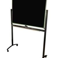 Blackboard SAKANA 60 x 120 cm Papan Tulis Kapur Hitam ( Kaki ) Single