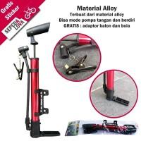 BEST SELLER Pompa Sepeda Tangan Mini Bola Motor Balon Alloy Kenmaster