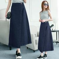 Gianna Denim Skirt(#6070)/Rok panjang jeans/Rok Wanita bahan denim