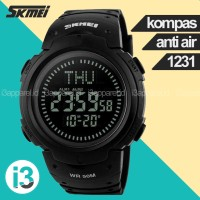 SKMEI 1231 Jam Tangan Pria Sport Digital Compass Original Anti Air - Hitam