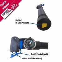 SPESIAL Pompa Sepeda Mini United Dengan Meteran dan Dual Pentil PM 0