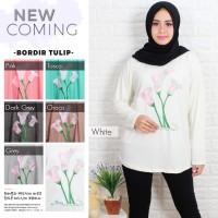 kaos muslim/ blus muslim/ fashion muslim wanita bordir tulip