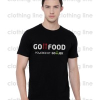 TSHIRT KAOS BAJU GOFOOD GO FOOD POWERED BY GOJEK GO JEK ONLINE