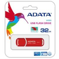 ADATA FlashDrives UV150 - Flashdisk USB 3.1 Super Speed 32 GB Red