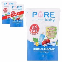 Pure Baby Liquid Cleanser 450ml Refill Buy 2 Get 3