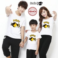 Kaos Keluarga / Baju Couple Family Imlek Chinese New Year Isi 3 pcs