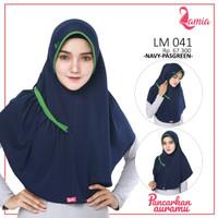 Lamia Hijab LM 041 Jilbab Instan Serut Hijab Instan Bergo Kerudung 1