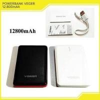 Powerbank VEGER V58 12800mAh Power Bank Slim Dual Outpu Murah