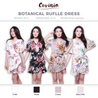 Botanical Ruffle Dress Tied Kimono Floral Dress Flower