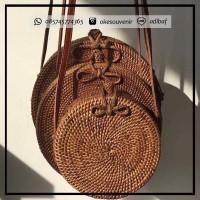 Tas Rotan Etnik Rattan Bag Wanita anyam asli Lombok bali ate ata murah