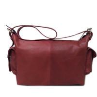 [L] Tas selempang wanita kulit sapi asli Marun Shoulder bag leather