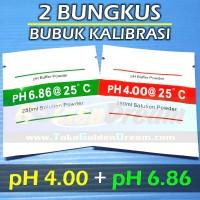 1 Set Bubuk Kalibrasi PH Meter Serbuk Asam Basa Buffer Powder Solution