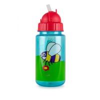 Tum Tum Bugs Flip Top Kids Water Bottle Botol Minum Straw Anak