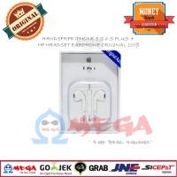 HANDSFREE IPHONE 4 S 5 S 6 S PLUS + HF HEADSET EARPHONE ORIGINAL 100%