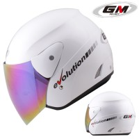 Kaca Helm Bening Hitam Pelangi untuk Helm GM Evolution. Kualitas Bagus