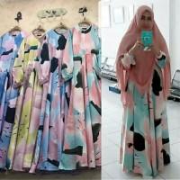 Baju muslim syari chanel hijau on model