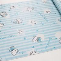 Hello Kitty Blue Star 45cm x 10mtr ~ Wallpaper Sticker Dinding