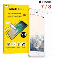 MAXFEEL Tempered Glass Iphone 7 Iphone 8 Clear Glass