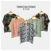 Baju Kimono Outer Outerwear Cardi Cardigan Wanita Motif Floral