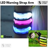 LED Warning Strap Arm Band - Green