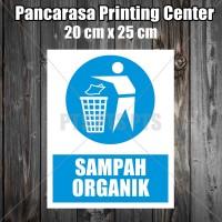Sticker 3 sampah organik safety sign warning imo surabaya