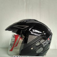 HELM KYT SCORPION KING SOLID BLACK GLOSSY